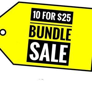 10 FOR $25 BUNDLE SALE